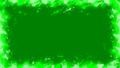 セル画風炎エフェクト フレーム アルファ付き 緑 39097154