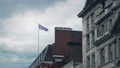 Typical London Buildings With Flag Blowing 39251029