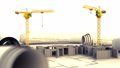 3d animation of cranes and building construction 39399509