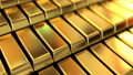 3d animation background with shining golden bricks 39399511