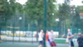 Streetball training outdoors in the park 39422472