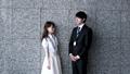 会話する男性と女性(ビジネスイメージ) 39504344