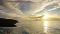 Sunset in Atlantic ocean, Morocco coast, timelapse 39514741