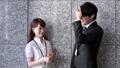 会話する男性と女性(ビジネスイメージ) 39523405