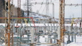 Elements of electric power station in closeup 39678486
