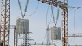 Elements of electric power station in closeup 39678487