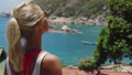 Tanned sporty female enjoy gorgeous view of Tanote 39712265