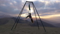 Anti-gravity yoga or aerial yoga in nature 39854883