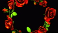 Red Roses Frame On Black Text Space 39882213