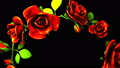 Red Roses Frame On Black Text Space 39882214