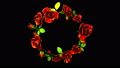 Red Roses Frame On Black Text Space 39882215