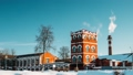 Dobrush, Gomel Region, Belarus. Time Lapse Time-lapse Timelapse From Day To Night Of Old Paper 40001014