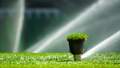 Soccer or football field irrigation system of automatic watering grass. 40086580