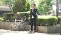 男性 自転車 スマホの動画 40087887
