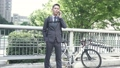 男性 ビジネス 自転車の動画 40088364