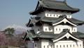 桜咲く弘前城 西濠 パン 40167194