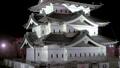 桜咲く弘前城 天守閣夜景 ズームアウト 40167207