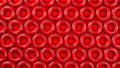 Red swim rings on red background 40189324