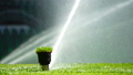 Soccer or football field irrigation system of automatic watering grass. 40195109
