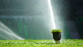 Soccer or football field irrigation system of automatic watering grass. 40221029