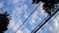 Electric wire and clouds (time-lapse photography) 40240697