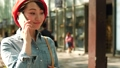 Woman calling on smartphone in Omotesando 40296428