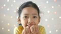Asian little girl playing with happiness over glit 40296640