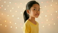 Asian little girl playing with happiness over glit 40296644