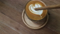 A Cup of Piccolo latte coffee with latte art 40353887