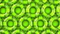 Green swim rings on green background 40355122