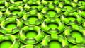 Green swim rings on green background 40355123