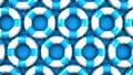 Blue swim rings on blue background 40432315