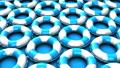 Blue swim rings on blue background 40432316