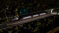 High-speed passenger train moves in a glass tunnel 40499874