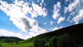 FullHD FHD mountain meadow timelapse at the summer. Clouds, trees, green grass and sun rays movement 40501897