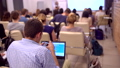 Business People Seminar Conference Meeting Office Training, business. an in blue shirt using laptop 40515946