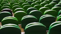 Rows of seats in a football stadium. 40745433