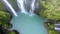 Close up Aerial shot of Marmore Waterfalls Italy 40760805