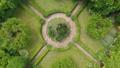 Beautiful green garden in a luxury villa Aerial 40760815