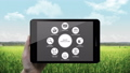 Click Smart agriculture farming in smart phone.3. 40772152