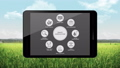 Smart agriculture farming icon in smart pad.3. 40772154