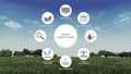 Smart agriculture smart farming icon. IoT 40772156