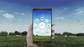 Smart agriculture farming icon in smart phone. IoT 40772158