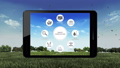 Smart agriculture farming icon in pad. IoT 40772161