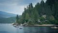 Peaceful Bay Scene With Boats And Houses 40795613
