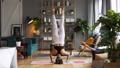 Woman does yoga in loft-studio 40816120