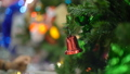 Jingle bell on christmas tree closeup 40821595
