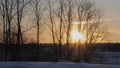 winter sunset in a deserted place outside the city 40822526