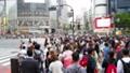 People walking in Tokyo Shibuya scramble intersection 40826240