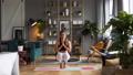 Woman does yoga in loft-studio 40848535